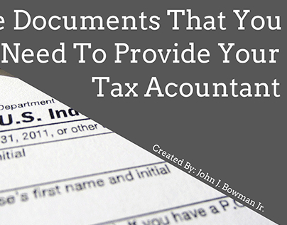 The Documents You Need To Provide Your Tax Accountant