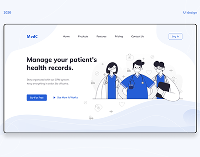 Landing page for medical CRM