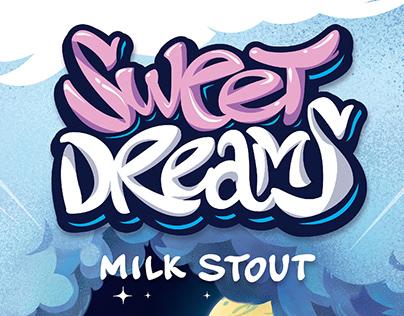 MILK STOUT. Beer label design