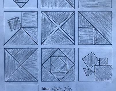 Four Black Squares to convey an idea