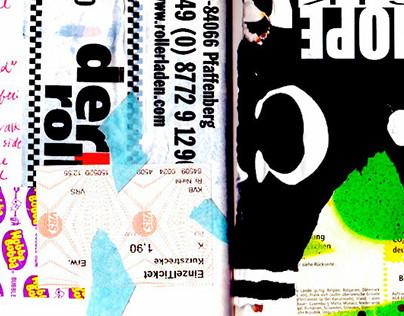 German Stamps - Street Art Collage