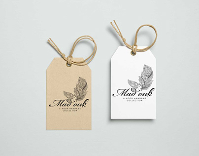 Mad`ouk and Noor handmade logo design