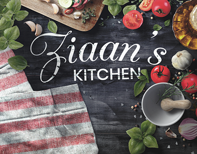 Ziaan's Kitchen - Identity & Menu Design