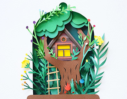 Treehouse | Paper art