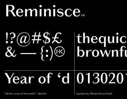 Reminisce Typeface
