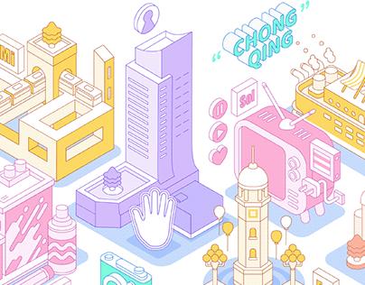 2.5D Interactive Illustration design