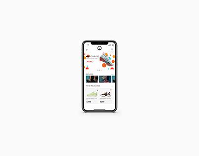 Conceptual UI for UNKNWN mobile app.