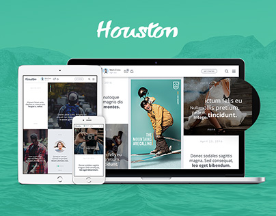 Houston — Creative Template For Web Site