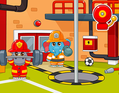Firefighters - Mobile game for kids