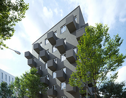 UNIKATO Residential Building by KWK Promes