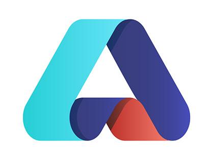 Letter a alphabet logo design tutorial
