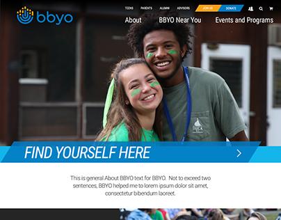 BBYO Website Design