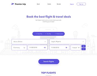 Premier Trips Landing page