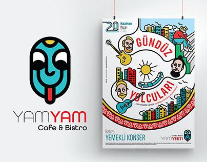 YamYam Cafe Logo, Poster and Menu design