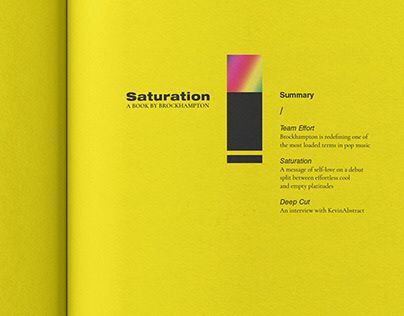 Saturation: The Trilogy, a book by Brockhampton