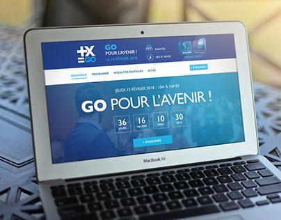 DA / Webdesign d'un site évenementiel onepage