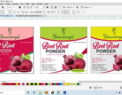 """""""Label Design work Sample"""