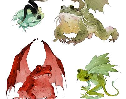 Demonic frogs