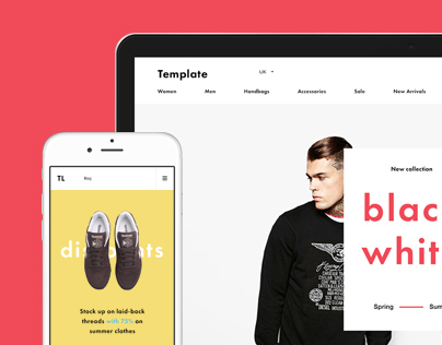 Shop Template free PSD