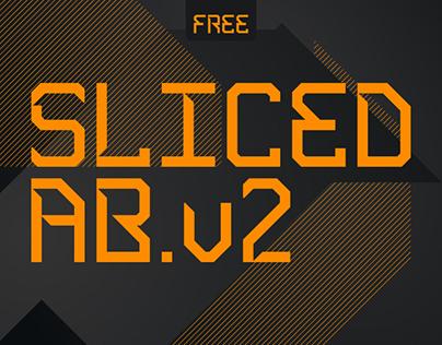 Sliced AB .v2 [Free Font]