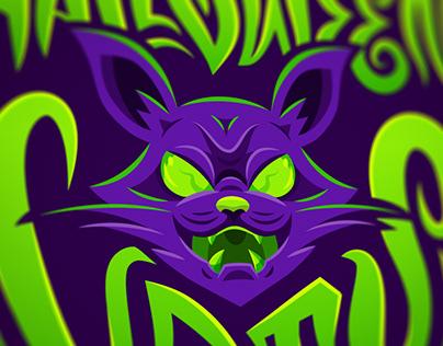 Halloween Cats - Mascot Logo