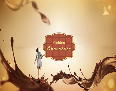 Golden Chocolate Packaging Design-Project