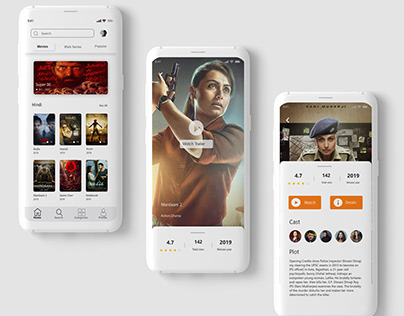 online movie app UI