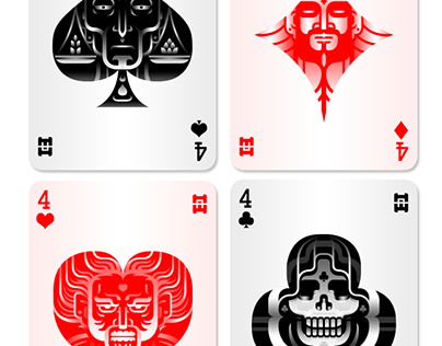 Four Horsemen Playing Cards