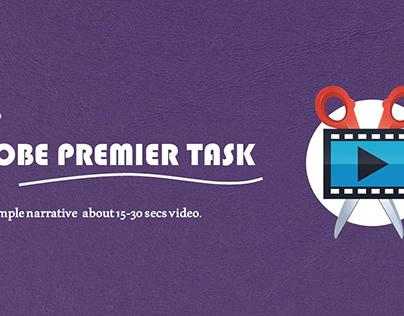 ADOBE PREMIER TASK (FOUNDATION AD)