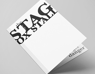 The Stag in the Ox Stall Typographic Flip Book