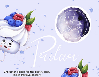 Brand character for pastry chef.