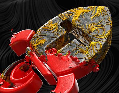 TStudio indent - 3D X particles animation.