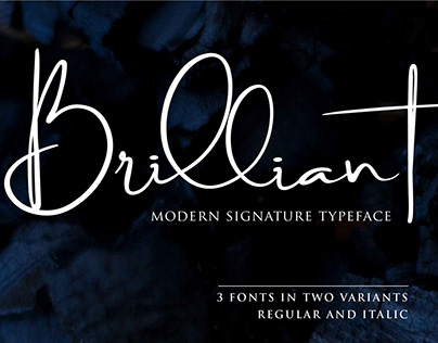 Brilliant Signature Typeface (Free Download)