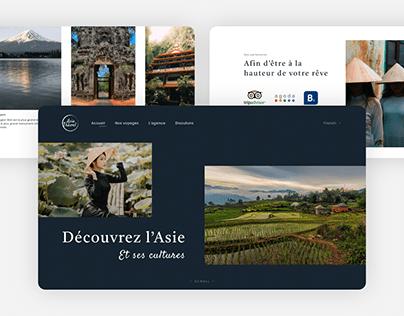 Asia travel agency website design