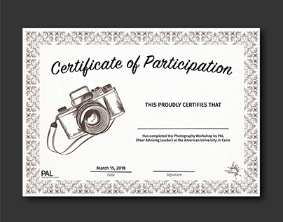 Photography Certificate