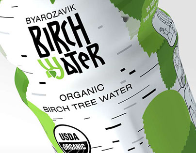 Branding for organic birch water BYAROZAVIK