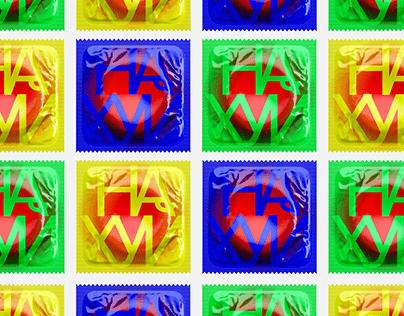 НАХУЙ (Nahui) — Condom Packaging