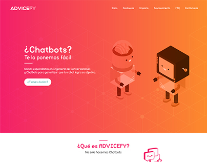 Diseño UX para la web de ADVICEFY