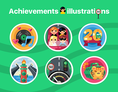 Achievements badges (illustrations)