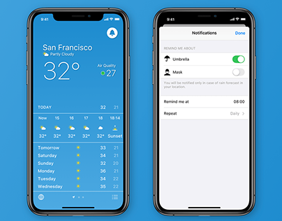 Weather App UX Concept