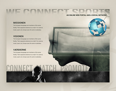 Design mockup for a sports client