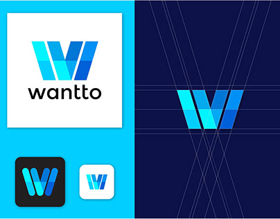 ABSTRACT W LETTWE LOGO DESIGN