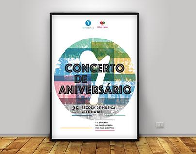 Concerto de Aniversário · Poster