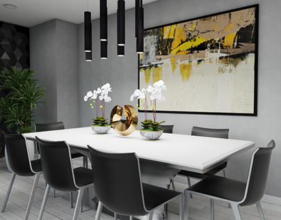 DINNING ROOM -PENTHOUSE -Fendi inspiration