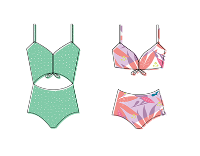 Fabric prints design for swimwear