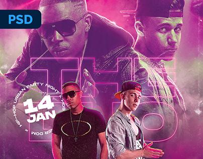 Hip-Hop DJ Flyer - PSD Template
