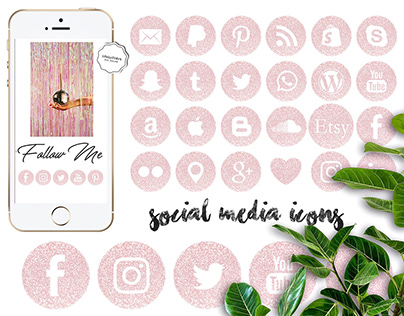 Social Media Icons - instant download