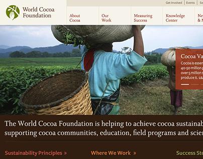 World Cocoa Foundation Website Design