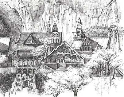 Lord of the Rings Architectural Sketches
