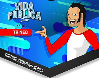 Illustrated content social media for Trineo TV